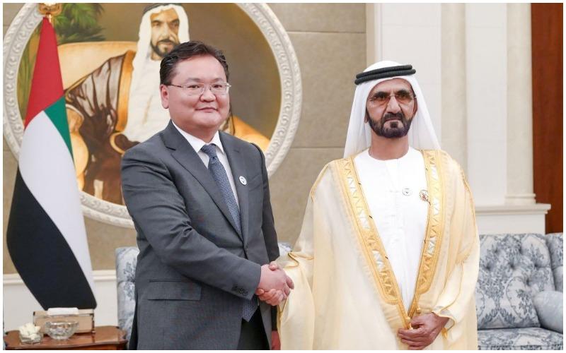 チントゥシグ大使、UAE副大統領へ信任状を捧呈